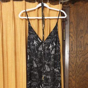 Silk Romper Pants Small with Belt